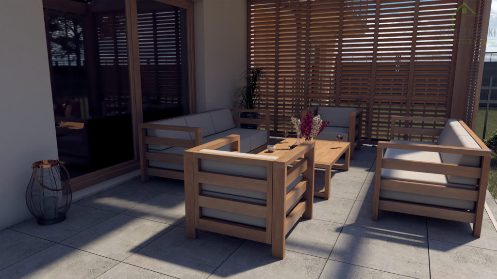 drewniane meble tarasowe